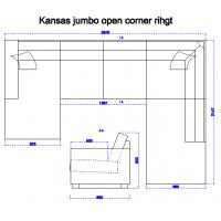 Kansas Jumbo nurgadiivan